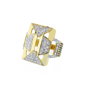 22KT Gold Fancy Ring For Men SO-R004