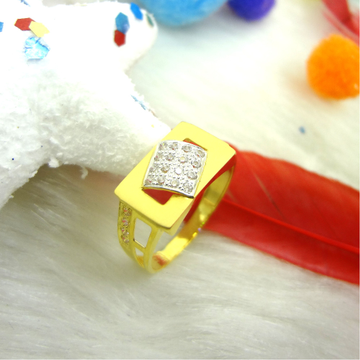 916 gold cz diamond gents ring by