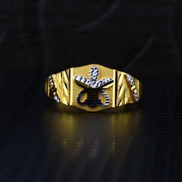 Men's Exclusive 22K Plain Casting Gold Ring- MPR60