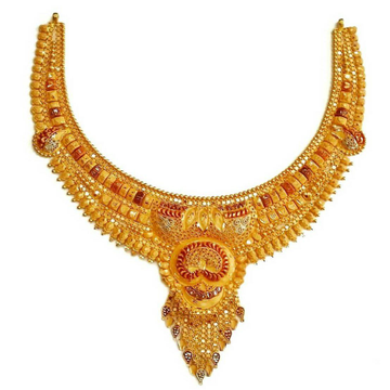 22k Gold Necklace Set by