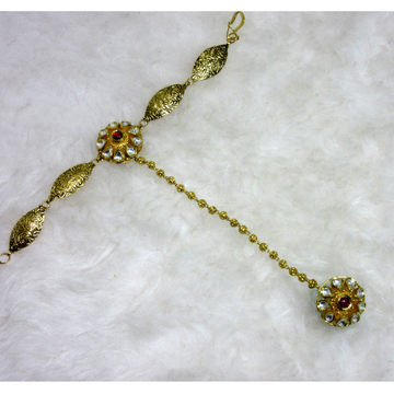 Gold 22k hm916 antique jadtar handchain