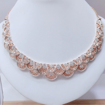 18K Rose Gold Plated Necklace For Wedding VJ-N015 by