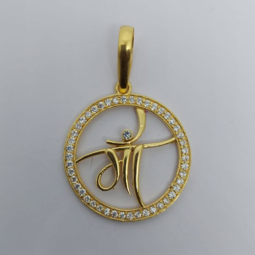 916 Gold Gent's Fancy Maa Pendant