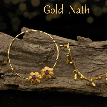 22KT / 916 Gold traditional wedding Bridle Nath fo... by