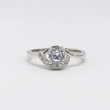 925 Sterling silver Diamond ladies party wear ring by Zaverat