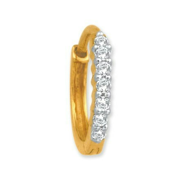 18k gold real diamond nosepin mga - rn0014