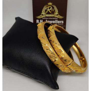 22 carat gold ladies fancy bangle RH-GB616