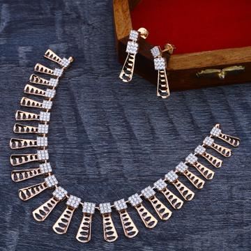 18KT Rose Gold Cz Gorgeous Women's Necklace Set RN166