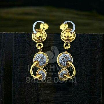 18kt Duffrent Designer Cz Gold Ladies Tops ATG -0741