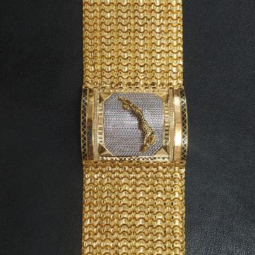 916 Gold Gent's Panther bracelet