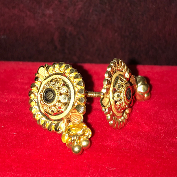 22Kt Plain Gold Fancy Earring For Women KB-E003