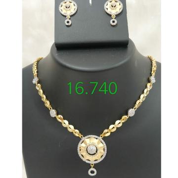 916 Gold CZ Dokiya with Butti RH-DK85
