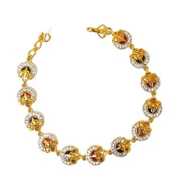 1 gram gold forming designer bracelet mga - bre0034