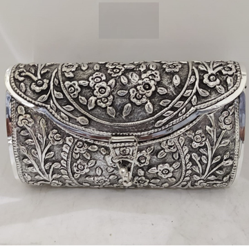 Rose Motif Carving ClutchIn Hallmarked Silver By Puran
