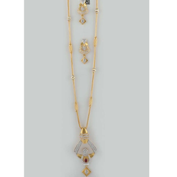 22 Ct 916 Gold Dokiya With Earrings by