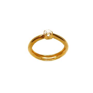 18K Gold Round Shaped Solitaire Diamond Ring MGA - LRG1085