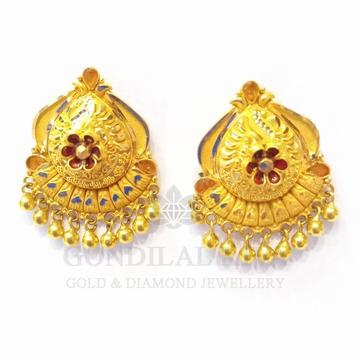 20kt gold earring gft119 by