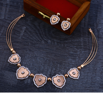 750 Exclusive  Rose Gold  Necklace Set RN60