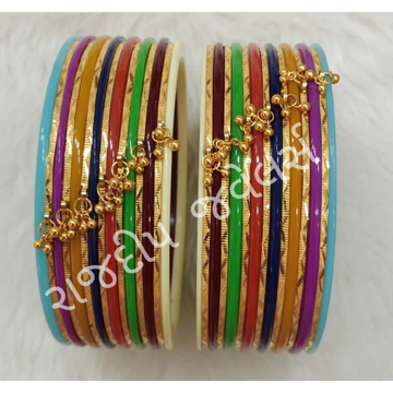 Gold Colorful Chuda Bangles
