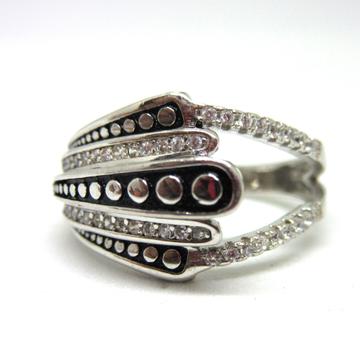 Silver 925 a unique one side design ring sr925-297