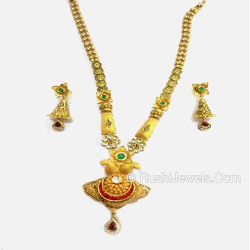 Antique 916 Gold Long Ladies Necklace