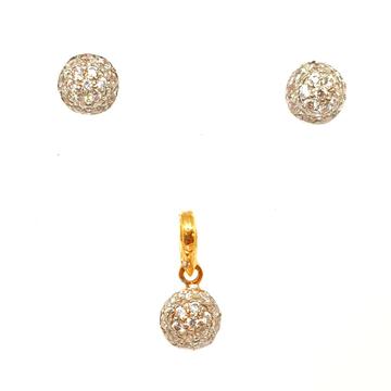 22K Gold Diamond Tops Pendant Set MGA - PTG0074