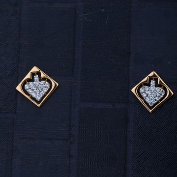916 Gold Hallmark Plain Design Earring