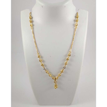 22 K Gold Pendant Chain NJ-P0119