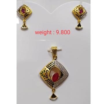 22 k 916 gold ruby  diamond by