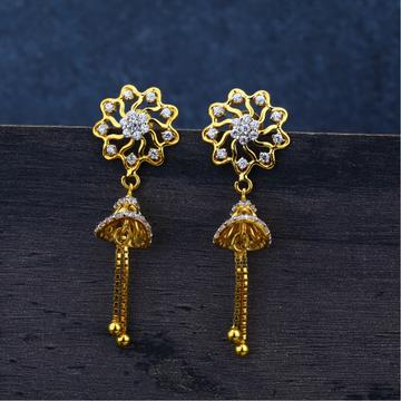 Ladies gold jummar Earring 916-LJE68