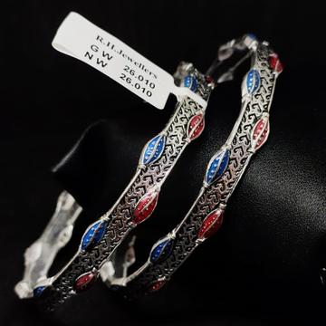 silver traditional ladies bangles RH-LB924