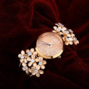 Ladies Rose Gold 18K Watch-RLW37