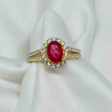 Ruby Style Fashion Ring by Kanishq Jewels