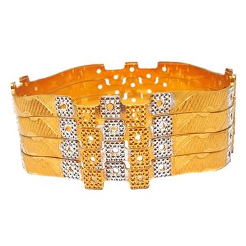 One gram gold forming designer bangles mga - bge0304