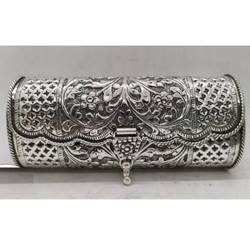 Maanniya Pure Silver Designer Clutch in Antique
