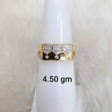 916 Fancy light weight daily wear Cz Gent's ring by