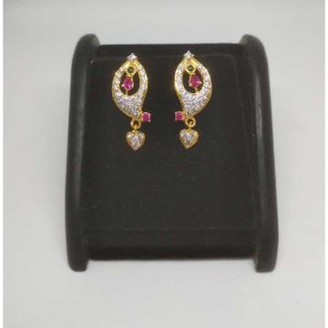 22 K Gold Fancy Earring. NJ-E0939