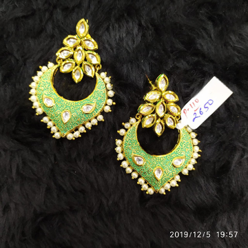 Mint green earrings#205