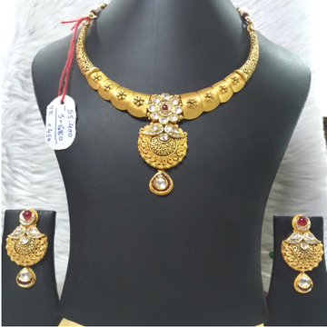 916 Gold Stylish Jadtar Necklace Set
