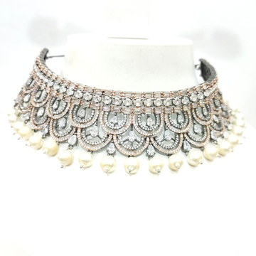 Choker with hanging moti & wedding special Necklace set 1491