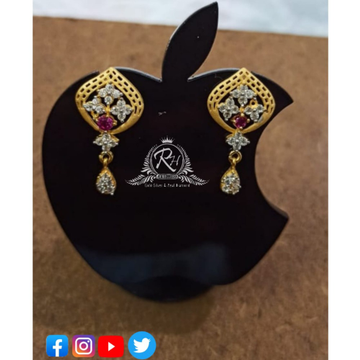22 carat gold antique ladies earrings RH-ER437