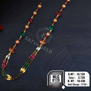 916 gold mala MLG-0120