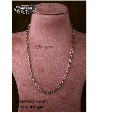 18 carat Italian gents gold chain oval shape igg00... by