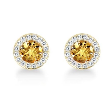22kt, 916 hm, yellow gold round tops with sapphire jke111.