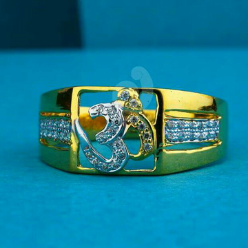22ct boys wear cz gents ring