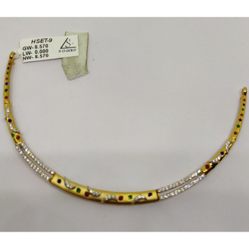 22kt gold plain necklace sog-n002 by S. O. Gold Private Limited