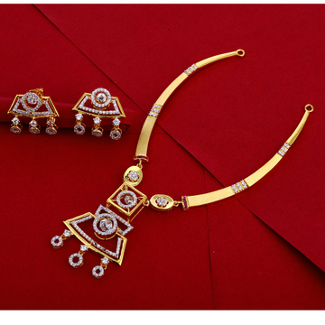 916 Gold Hallmark Necklace Set LN262