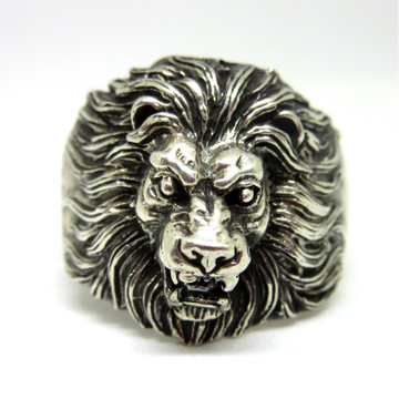 Oxidised Roaring lion Silver 925 Ring