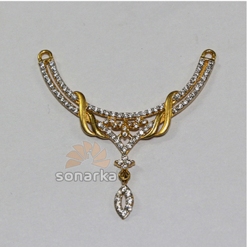 22kt Yellow Gold AD Studded Fancy Ladies Mangalsut... by