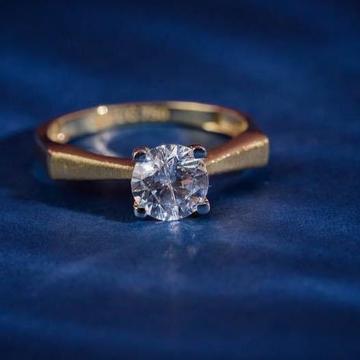 916 gold Singal Stone Ladies Ring RH-LR063